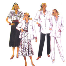 80s Vintage McCalls Sewing Pattern 3194 Half Size Top Jacket Skirt Pants... - $6.95