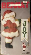 "Santa's Trumpet Felt Wallhanging Kit 19"" Christmas W00452 Bernat Vintage... - $14.52"