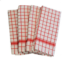 Cotton Kitchen Terry Towels Red 4/pack - $14.89