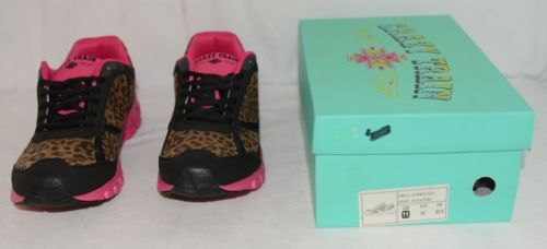 Crazy Train RUNWILD14 Black Pink Cheetah Sneakers Size 11