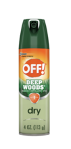 OFF! Deep Woods DRY Insect Bug Mosquito Repellent VIII Spray with DEET, ... - $10.79