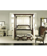 Hickory Chair Alexa Hampton Belle Upholstered Canopy Queen Poster Bed 54... - $2,499.00