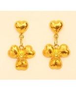18k gold  heart earring from Thailand #26 - $197.01