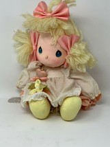 Applause Precious Moments Collectible Cloth Doll Heather #4562 with Locket - $13.85