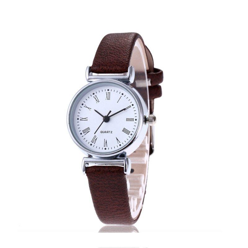 New Luxury Brand Women Watch Ultra Thin Vintage Leather Band Quartz Watch Fashio