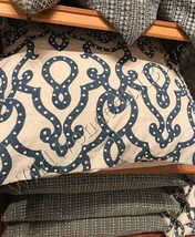 Pottery Barn French Knot Trellis Pillow Cover Blue 24 sq Scroll Embroide... - $49.50