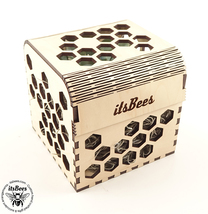"""Personalized Honey Comb Pattern Custom Gift Box 4"""" - Laser Cut and Engra... - $18.00"""