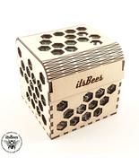 "Personalized Honey Comb Pattern Custom Gift Box 4"" - Laser Cut and Engra... - $18.00"