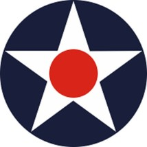 """Official USAF U.S. Aircraft Star 1940-1942 Decal 4"""" Wide x 4.00"""" High - $11.87"""