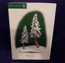 "Dept. 56 Village Accessories ""Flocked Pine Trees - Set of 2""  #56.56715 ... - $14.03"