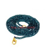"""L.B. Coated Crystal 3-4mm Rondelle Faceted Beads 36"""" Long Beaded Necklace - $26.64"""