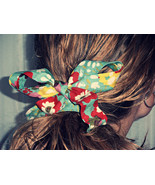 Turquoise Floral Headband, Turquoise Red Headband, Womens Headband, Hair... - $9.99