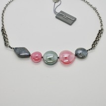 Necklace Antique Murrina Venezia with Murano Glass Pink and Gray COA87A45 image 2