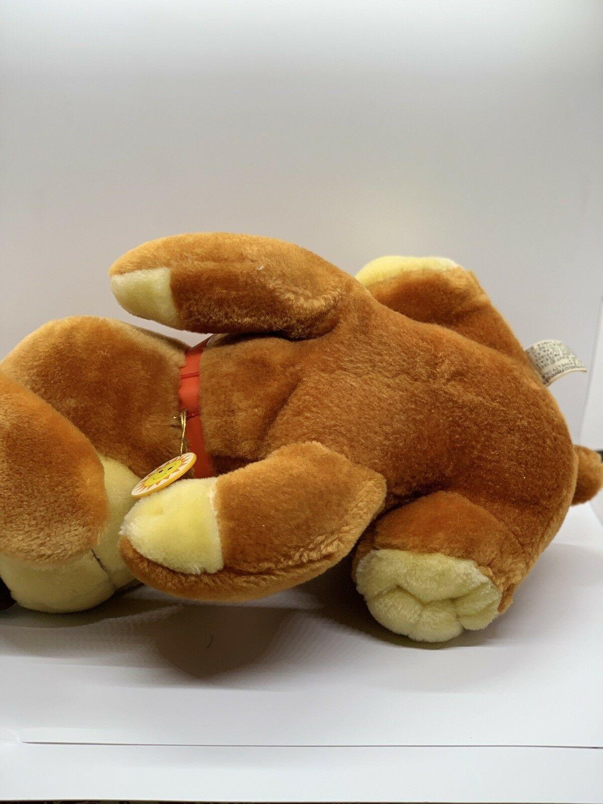 "Sunburst Pets 1983 Vintage Plush Brown Dog Commonwealth Vtg Stuffed Animal 13"" image 8"