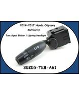 2014-2017 Honda Odyssey Turn Signal Blinker / Lighting Headlight Multisw... - $19.75