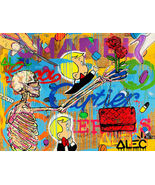 Alec Monopoly Oil Painting on Canvas graffiti art Cartier Chanel Richie ... - $21.77+