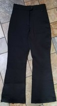 Woman's Unbranded Fleece Lined Black Ski Pants Size 6 X 29, prof. altere... - $19.79