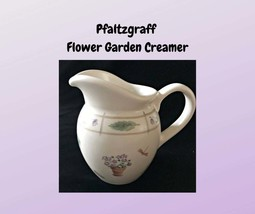Vintage Pfaltzgraff FLOWER GARDEN Small Pitcher with Garden Scenes Leaves - $7.00