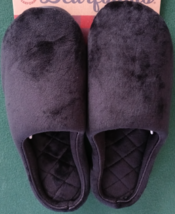 Women Slippers Black Covered Toe Size 9-10 Memory Foam In/Outdoor - £28.58 GBP