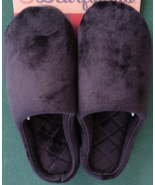 COLD WEATHER SLIPPERS WOMEN BLACK COVERED TOE SIZE L 9-10 MEMORY FOAM IN... - $39.99