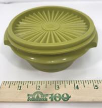 Tupperware Servalier Bowl #1323-9 w/lid Avacado Green Vintage - $9.90