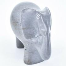 Crafts Caravan Hand Carved Natural Dove Gray Soapstone Elephant Figure image 2