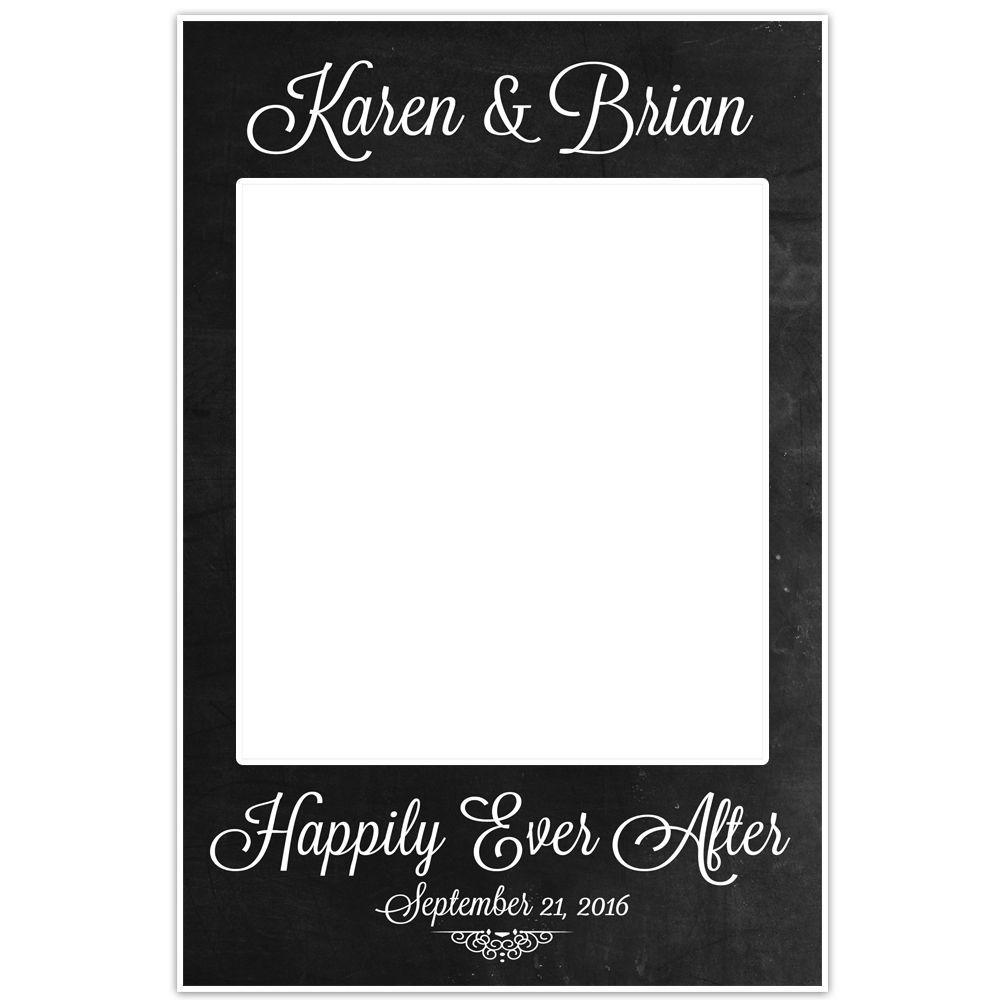 Chalkboard Polaroid Selfie Frame Photo Booth and similar items