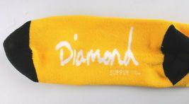 Diamond Supply Co. Bright Yellow Black Un-Polo Crew Socks NEW image 3