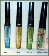"NEW  4 x ""AMUSE"" GLITTER EYELINER Blue Yellow Green & Yellow Silver Gree... - $11.95"