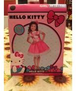 Hello Kitty Sparkle Dress Deluxe Costume w Headband 8-10 + Hello Kitty N... - $20.99