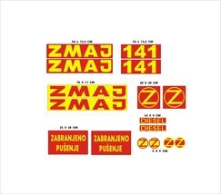 ZMAJ 141 - Combine Harvester decal set, reproduction - $65.00