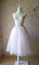 PALE PINK Midi Length Tulle Skirt Baby Shower Tulle Skirts Pink Petticoat NWT image 4