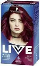 Schwarzkopf LIVE Permanent Hair Dye Colour PURE PURPLE Burgundy For Blonde Hair - $14.76