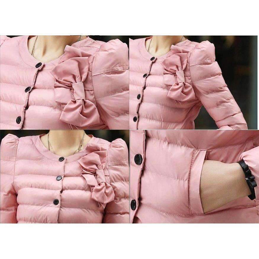 Fashion Padded Single Breasted Women Winter Outerwear