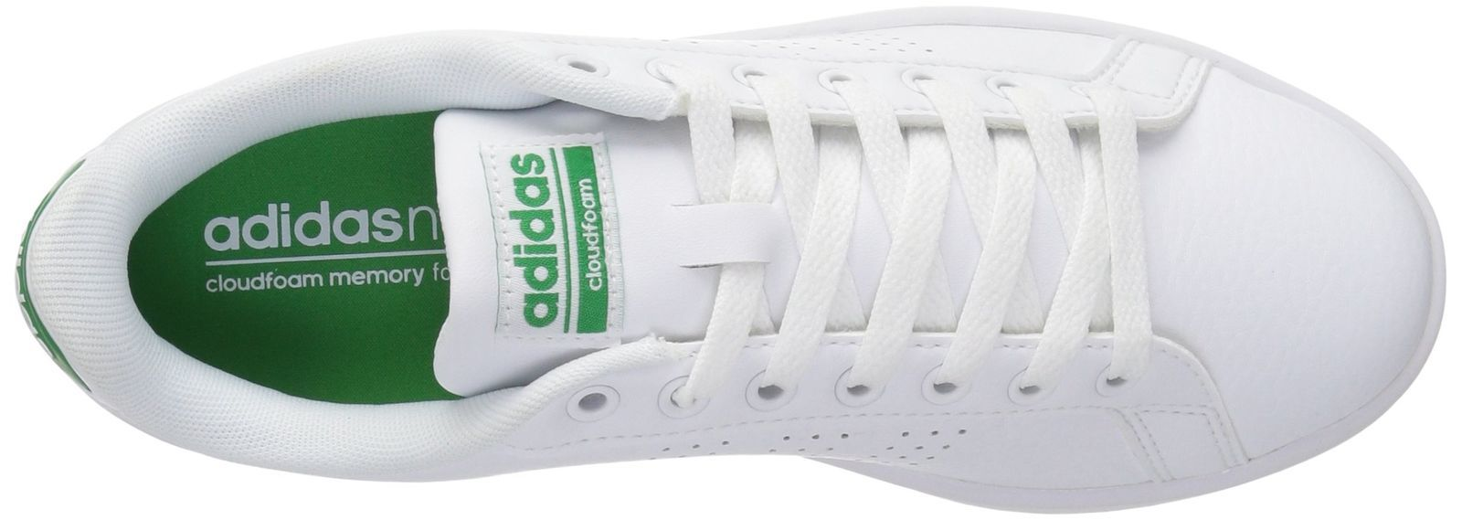 the latest 0302a 1f1a3 ADIDAS MEN S CLOUDFOAM ADVANTAGE CLEAN SNEAKER WHITE GREEN 10 ...
