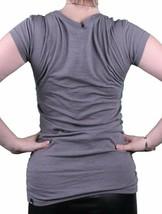 Bench Urbanwear Womens Smoked Pearl Gray Deckhand Logo T-Shirt BLGA2358 NWT image 2