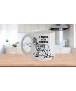 I Think it's Stress Funny Zebra Losing Strips Coffee Mug Gift - $14.99