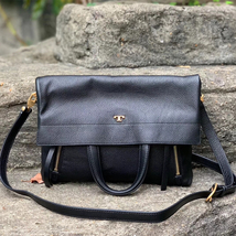 Tory Burch Half-Moon Convertible Fold-Over Cross-Body Bag - $367.00