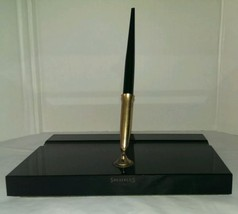 Sheaffer Fountain Pen Black /Onyx Glass Base Original Labels & Co Name - $36.95
