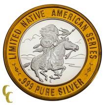 Chief Medicina Crow Nativi Americani Casino Gaming Token .999 Argento Li... - $62.57