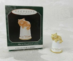 Hallmark Christmas Ornament Alice in Wonderland Cheshire Cat 1998 Thimble - $14.84