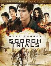Maze Runner: The Scorch Trials (Blu-ray Disc, 2015, 2-Disc Set)