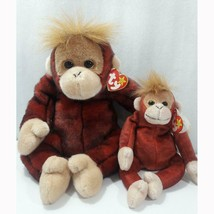 Schweetheart the Orangutan Ty Beanie Baby and Buddy Set Retired MWMT Collectible - $19.75
