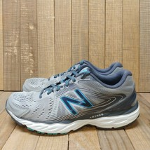 New Balance Womens 680v4 Running Shoes Sz 7.5 Gray Blue Sneakers Abzorb ... - $19.95