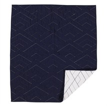 Living Textiles Baby Quilted Comforted Reversible Navy White - $116.39