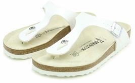 Brand New Authentic Birkenstock Gizeh BS White Women's Thong Sandals image 4
