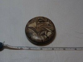 makeup mirror compact vintage marble look brass ? powder hinge issues an... - $16.00