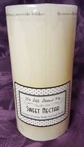 NEW! Candle-Lite Pillar Candle 3x6 It's All About Me Sweet Nectar Scent ... - $8.99