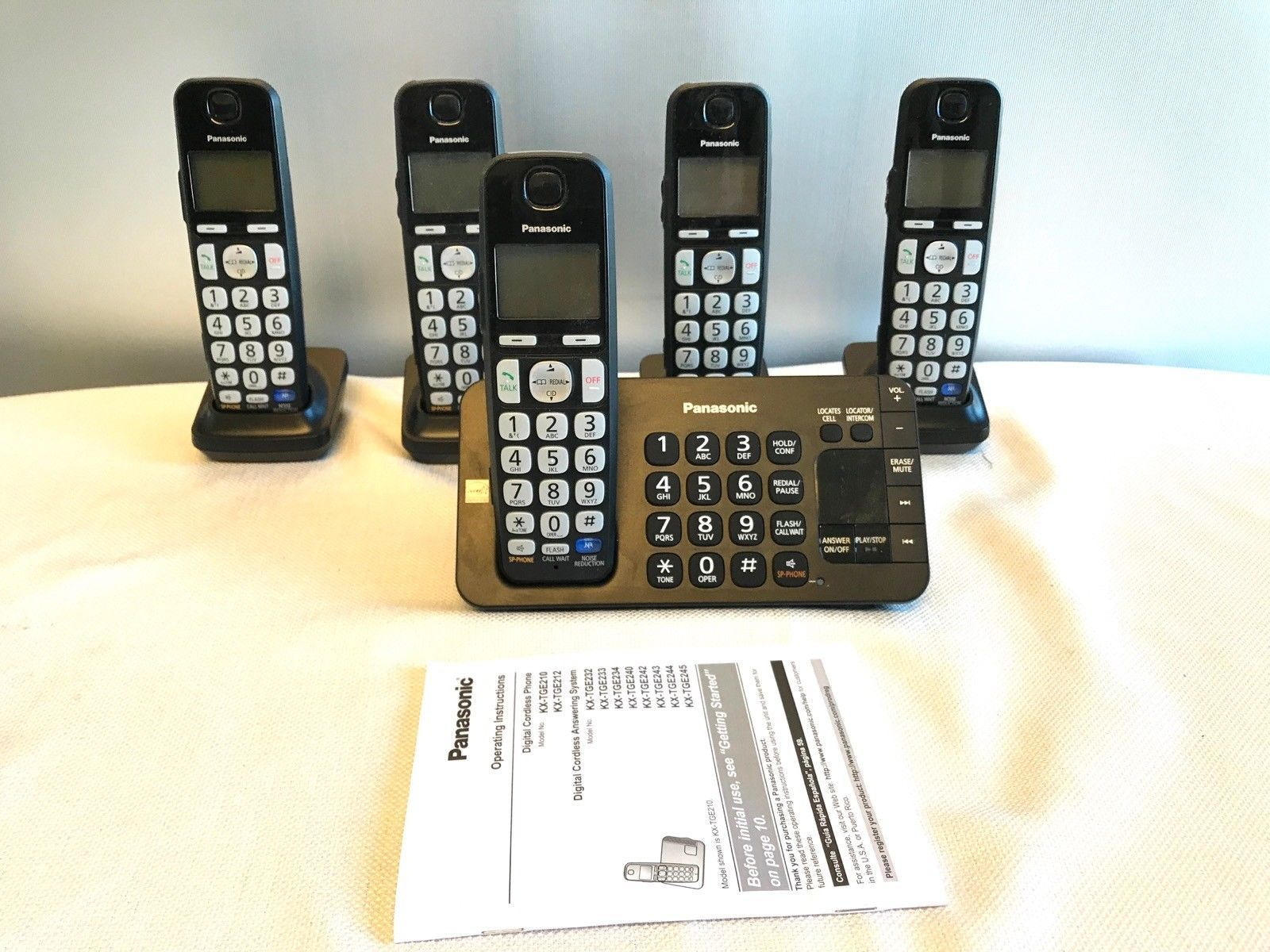 panasonic kx tge245 black cordless telephone and 50 similar items rh bonanza com Panasonic Kx Instruction Manual Panasonic Kx Instruction Manual