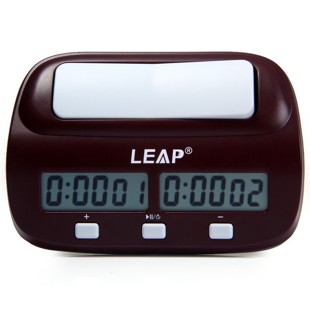 LEAP PQ9907S Digital Chess Clock I-go Count Up Down Timer-Wine Red image 6